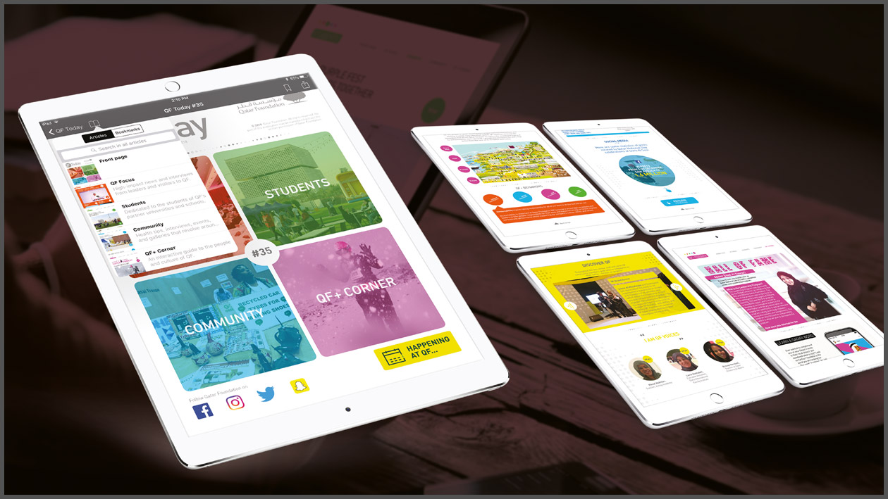 App Qatar Foundation Tablet