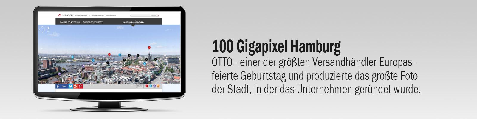 100 Gigapixe Bild von Hamburg für den Kunden Otto